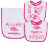 Gerber Baby Baltimore Ravens 3-Piece Bib & Burpcloth Set