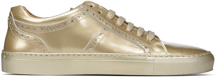 Donald J Pliner ANDY, Metallic Leather Sneaker