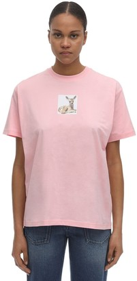 Burberry Bambi Print Cotton Jersey T-shirt