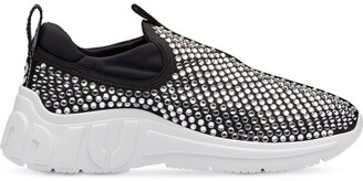 Miu Miu Crystal Embellished Sneakers