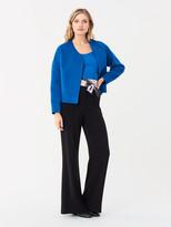 Diane von Furstenberg Pixie Double-Face Wool Cardigan