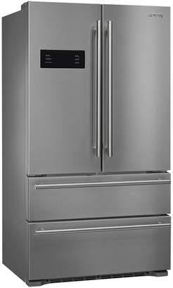 Smeg FQ50UFXE 36 inch French Door Free Standing Refrigerator/Freezer, 2 Door, 2 Drawer, Stainless Steel