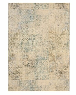 """Bungalow Rose Gruber Oriental Gray/White Area Rug Rug Size: Rectangle 5'3"""" x 7'6"""""""
