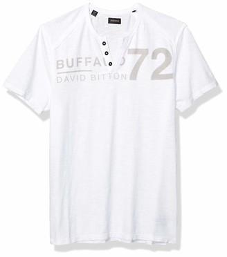 Buffalo David Bitton Men's Narwayne Short Sleeve Henley Knit Shirt