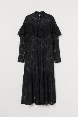H&M Flounced lace dress