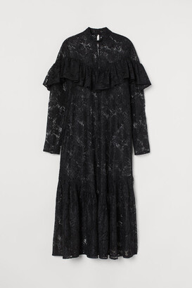 H&M Ruffled Lace Dress - Black
