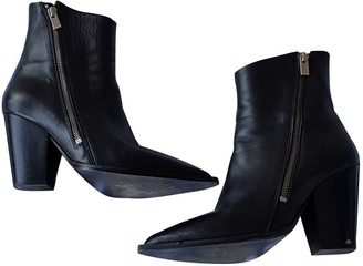 The Kooples Black Leather Ankle boots