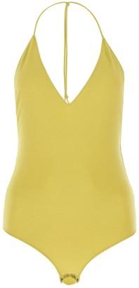 Bottega Veneta Deep V-Neck Open Back Bodysuit
