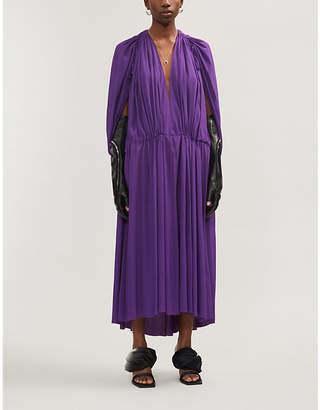 Ann Demeulemeester Plunging V-neck satin-crepe maxi dress