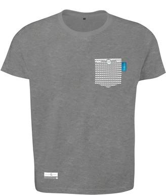 Anchor & Crew Athletic Grey Marker Print Organic Cotton T-Shirt