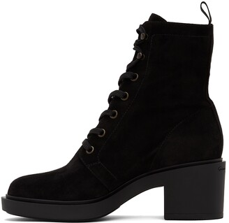 Gianvito Rossi Black Suede Foster Lace-Up Boots