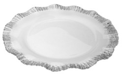 Classic Touch Charger with Silver-tone Scalloped Border