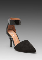 Jeffrey Campbell Solitaire-Np in Black Suede/Patent