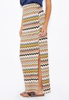 Dorothy Perkins Zigzag Side Split Maxi Skirt