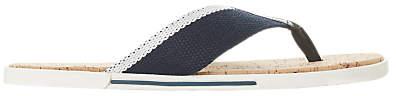 Dune Iniesta Canvas Post Toe Sandals, Navy