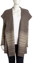 Vince Striped Blanket Sweater, Taupe