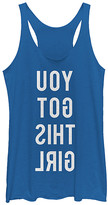 Fifth Sun Women's Tank Tops ROY - Heather Royal Mirror 'You Got This Girl' Racerback Tank - Women & Juniors