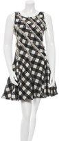 Zac Posen Wool-Blend Gingham Patterned Dress w/ Tags
