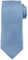 Eton Textured Pinwheel Woven Silk Tie, Blue