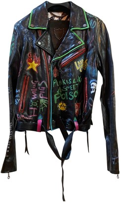 HTC Multicolour Leather Leather Jacket for Women