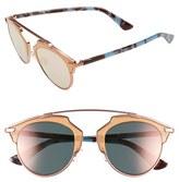 Christian Dior Women's So Real 48Mm Brow Bar Sunglasses - Black/ Spotty Tortoise