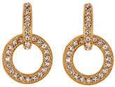 Nadri Open Link Crystal Pave Drop Earrings