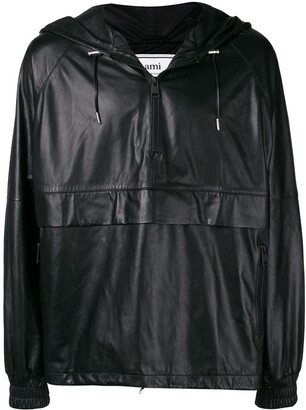 Ami Paris Leather Jacket