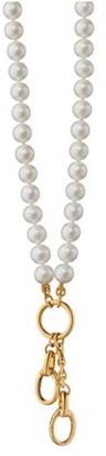 Monica Rich Kosann Pearl Chain Charm Enhancer Necklace