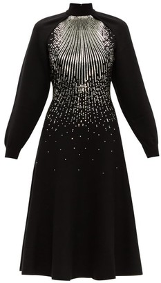 Givenchy Sequin-embellished Wool-blend Midi Dress - Womens - Black Multi