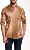 James Tattersall Callington Box Check Long Sleeve Modern Fit Shirt