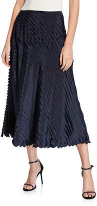 Nic+Zoe Fiesta Pleated Ruffle Midi Skirt