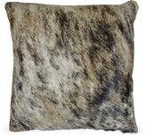 Le-Coterie Light Brindle Hide Pillow, Beige