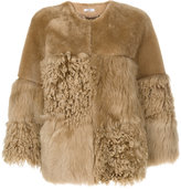 Desa 1972 - shearling fitted jacket