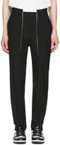 Comme des Garcons Black Wool Panelled Trousers