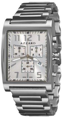Azzaro Men's AZ1250.12SM.001 Chronograph Silver Dial Bracelet Watch