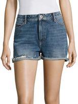 Paige Sarah High-Rise Cuffed Denim Shorts
