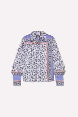 Chloé Printed Silk-twill Shirt - Blue