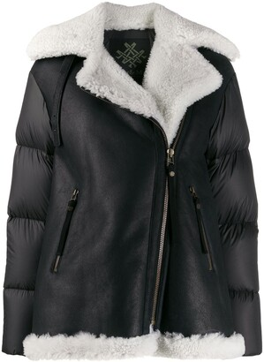 Mr & Mrs Italy Padded-Panel Shearling Jacket