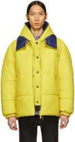 Yves Salomon Yellow Leather Jacket