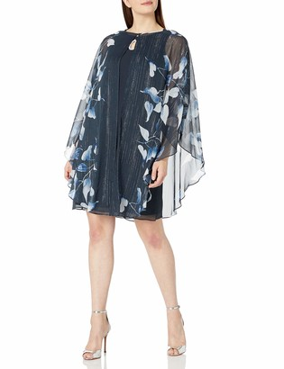 SL Fashions Women's Two Piece Caplet with Rhinestone Beaded Sleeveless Dress
