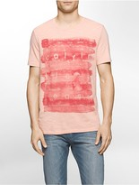 Calvin Klein Slim Fit Watercolor Logo T-Shirt