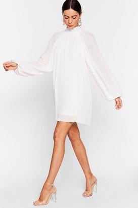 Nasty Gal Womens The Pleat is On Chiffon Mini Dress - White - 4, White