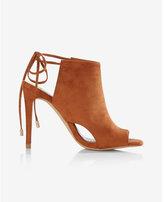 Express cut-out peep-toe heeled sandal