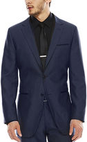 Akademiks Blue Birdseye Suit Jacket - Slim Fit