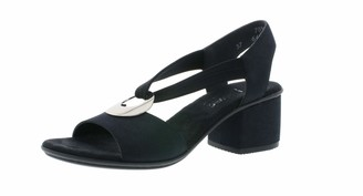 Rieker 64673 Women Summer Shoes Open Heel Shoes high Heel Feminine
