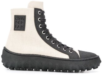 Camperlab Ground textured high-top sneakers