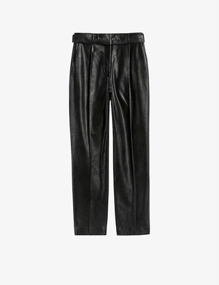 Ted Baker Faydell belted faux-leather trousers