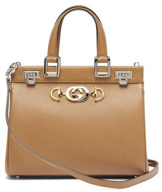 Gucci Zumi Small Leather Handbag - Beige