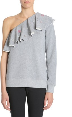 MSGM Ruffled One Shoulder Sweater