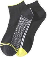 Joe Fresh Men's 2 Pack Sport Socks, JF Black (Size 10-13)